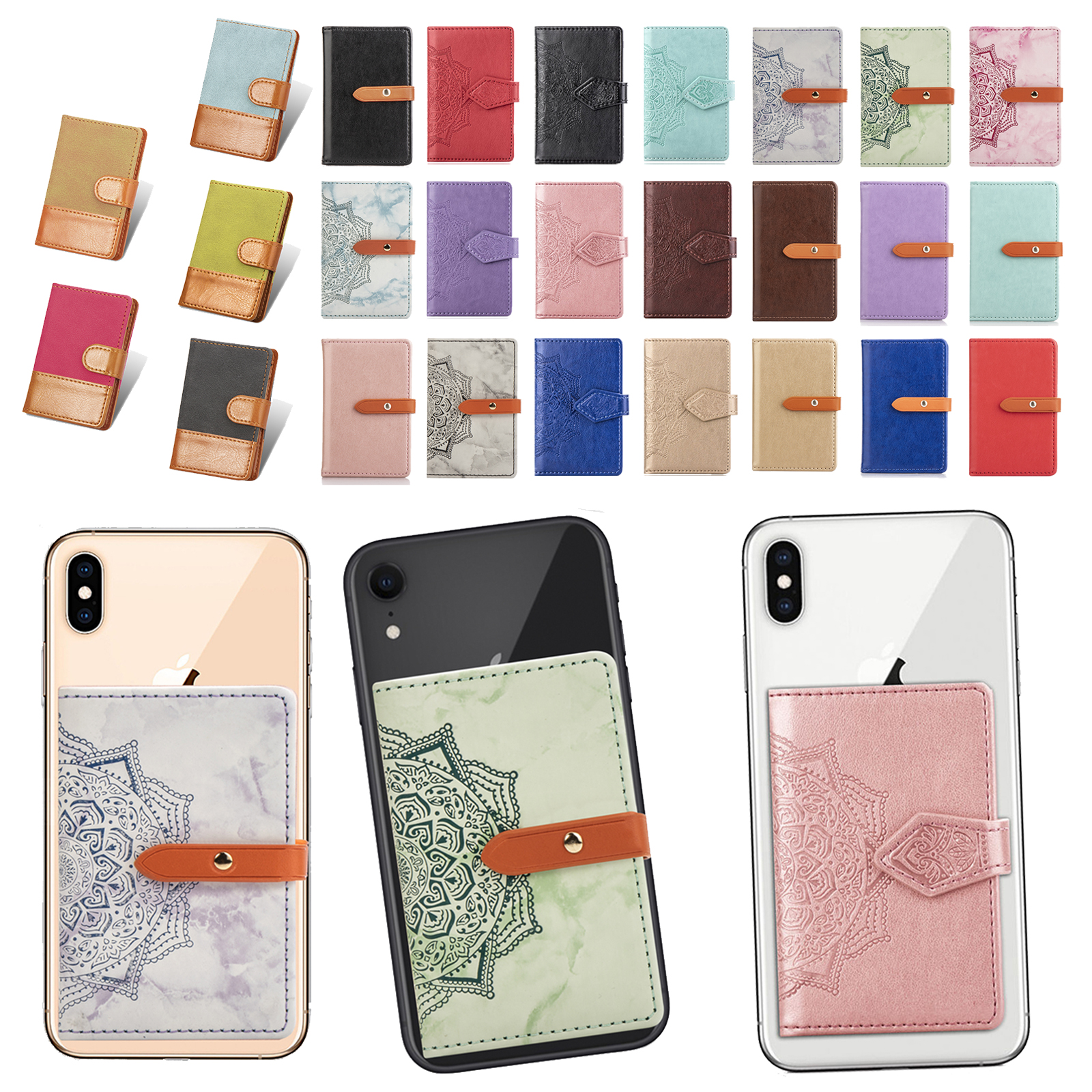 Universal Stick On Wallet Credit ID Card Holders Case Adhesi